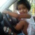 My naughty 2 year old daughter driving car in her on style, funny pics of kids, youngest car driver in the world