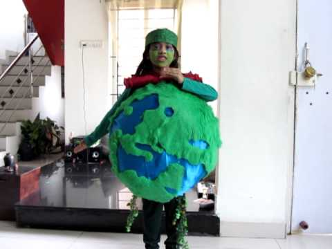 Fancy Dress Ideas for Kids on Environment Day, Fancy Dress Ideas for Kids on Earth Day, Fancy Dress ideas using recycle objects, newspapers, poly bags, carry bags