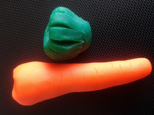 Homemade Play Dough Recipe for Carrot
